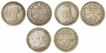 Picture of Victoria, Silver Threepence Type Set