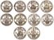 Picture of George VI, Cupro-nickel English & Scottish Shillings Set