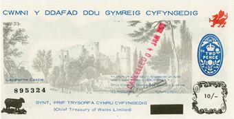 Picture of Black Sheep Bank Wales 10/- Laugherne Castle Unc