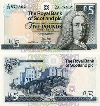 Picture of Royal Bank Scotland £5 2010 P352e Paper Unc