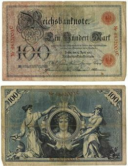 Picture of Germany 100 Marks 1903 P22 Abt F