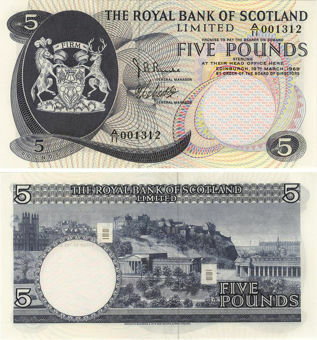 Picture of Royal Bank Scotland £5 1969 P330 GEF