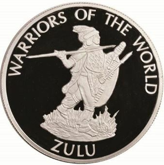 Picture of Congo, 10 Francs, Warriors of The World African Zulu