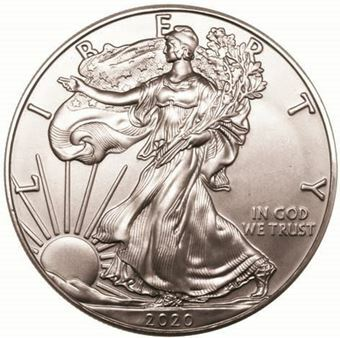 Picture of United States of America, 2020 One Dollar Silver Eagle BU