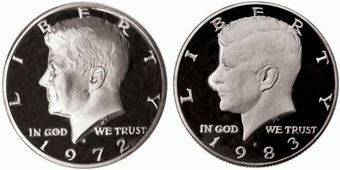 Picture of United States of America, Two Different Proof Kennedy Halves Special