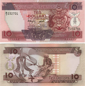 Picture of Solomon Islands 10 Dollars 1986 P15 Unc