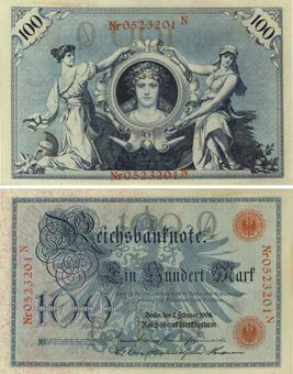 Picture of Germany 100 Marks 1908 P33a Unc