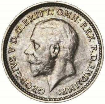 Picture of George V, Threepence, 1935 Uncirculated