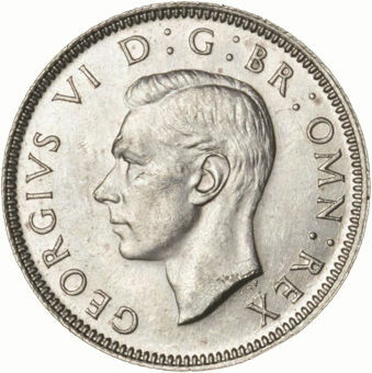 Picture of George VI, Shilling (English) 1945  AU