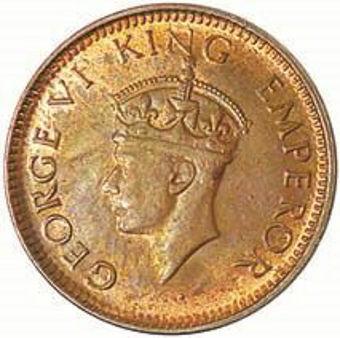 Picture of India, George VI 1939 1/12th Anna Unc