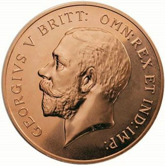 Picture of George V, 1918 100 Anniversary of World War Commemorative in Copper