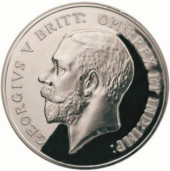 Picture of George V, 1918 100 Anniversary of World War Commemorative in Steel