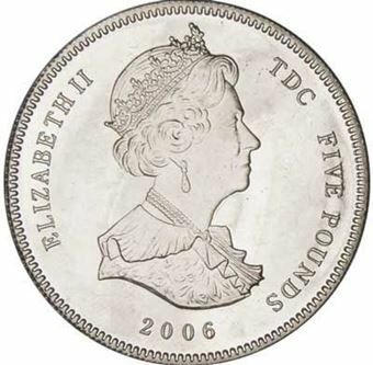 Picture of Tristan da Cunha, £5 80th Birthday of HMQ, 2006 (buy 1 get 1 FREE)