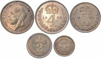 Picture of George V, Silver Maundy Set (1928-1936)