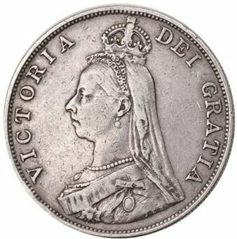 Picture of Victoria, Double Florin Fine