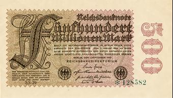 Germany 500 Million Marks 1923