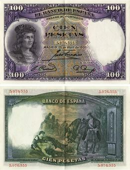 Picture of Spain 100 Pesetas 1931 P83 EF