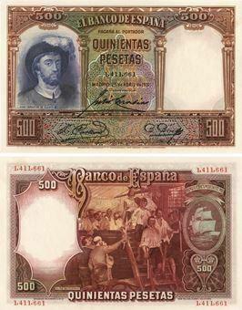Picture of Spain 500 Pesetas 1931 P84 Unc