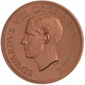 Picture of New Zealand, Edward VIII, Bare Head Copper