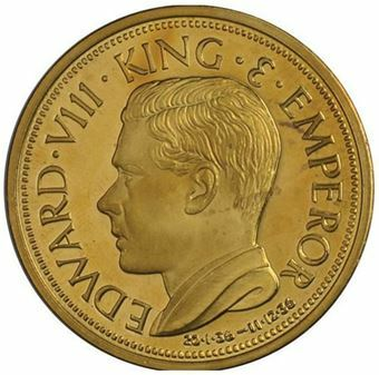 Picture of Canada, Edward VIII, Crownsized Brass Patina, 1987