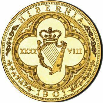 Picture of Ireland, Edward VII, 1901. Goldine Retro-Patina. Proof FDC