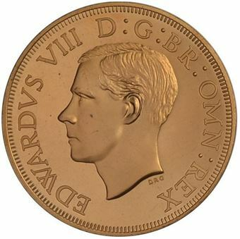Picture of South Africa, Edward VIII, Bare Head Copper