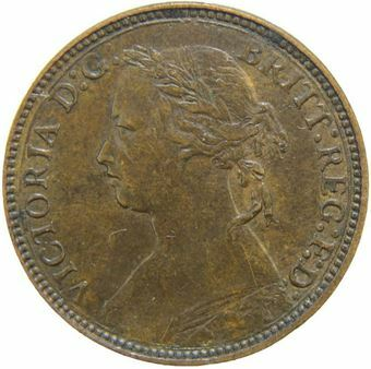 Picture of Victoria, Farthing H Extremely Fine, 1875