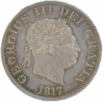 Picture of George III, Halfcrown 'Prooflike' About Uncirculated, 1817