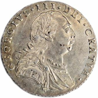 Picture of George III, Sixpence 1787 Uncirculated