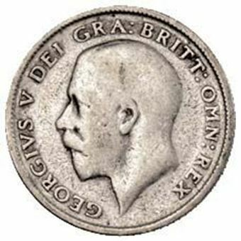 Picture of George V, Sixpence 1923 Circulated