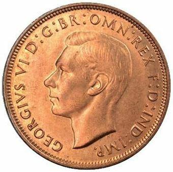 Penny 1937-48 BU_obv