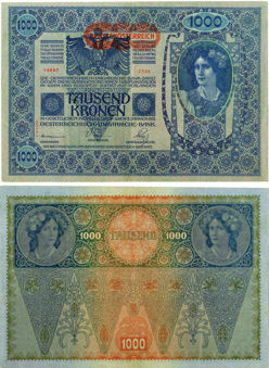 Picture of Austria 1000 Kronen 1902 P61 GVF-EF