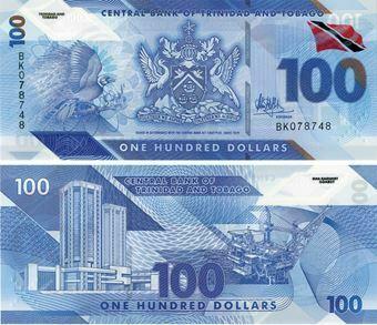 Picture of Trinidad & Tobago 100 Dollars 2019 P-New Polymer Unc