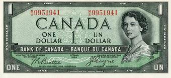 1954 Canadian $1_Dollar
