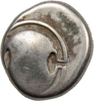 Picture of Boeotia, Thebes. Ca. 363-338 B.C. AR Stater. offstruck obverse.