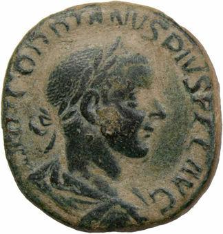 Picture of Gordian III. A.D. 238-244. Rome - A.D. 241-243. Æ Sestertius. AETERNITATI AVG.