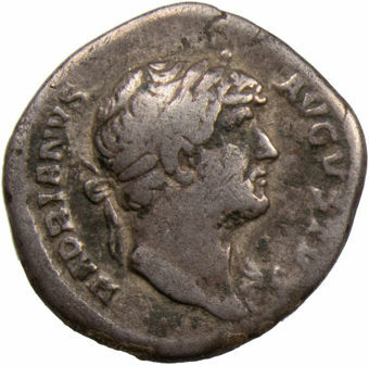 Picture of Hadrian. A.D. 117-138. Rome - A.D. 126. AR Denarius. COS III.