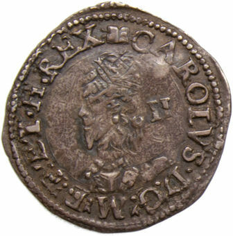 Charles I_Abweystwyth_2_Pence_obv