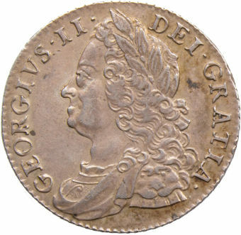 George II_1747_Shilling_with_Roses_obv