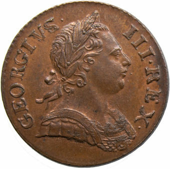 George III_1771_Halfpenny_obv