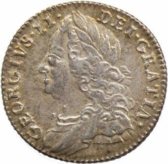 George II_1757_Sixpence_obv