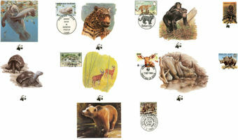 Picture of 7 Different WWF First Day Covers