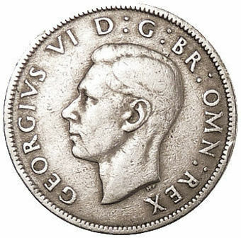Picture of Complete George VI Cupronickel Florin Collection 1947-1951