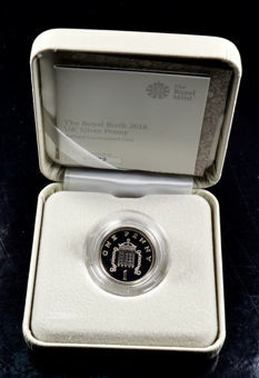 Picture of Elizabeth II, Prince Louis Silver Penny 2018 (in Royal Mint Case)