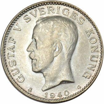 Picture of Sweden, 1940 1 Kroner Uncirculated