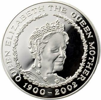 Picture of Elizabeth II, £5 (Death of Queen Mother) 2002 Silver Proof