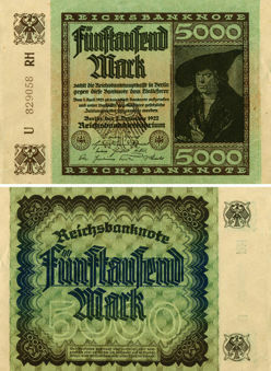 Picture of Germany 5000 Marks 1922 P81 F-GVF