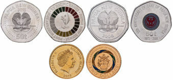 Picture of 3 South Pacific Part Colour Coins