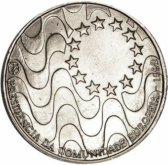 Picture of Portugal, 200 Escudos (Presidency of EU Commemorative)