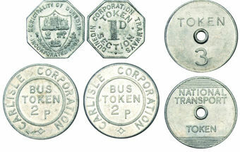 Picture of Three Transportation Tokens